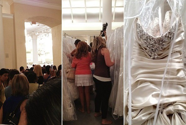 Wedding Dress Sample Sales Can Be A Bit Of Scrum Dont Expect Personal Service